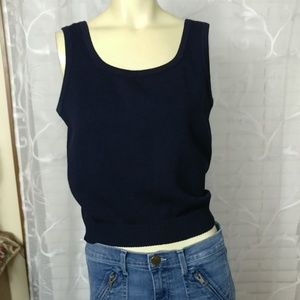 ST. JOHN BASIC Knit Navy Blue Top